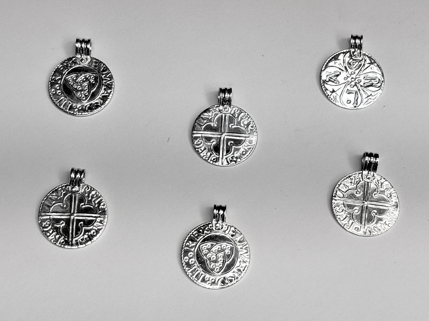 stamped coin pendants