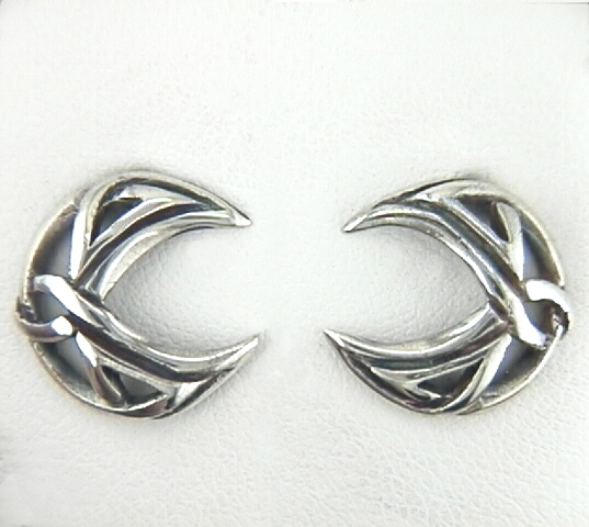 lunar shaped knot earrings